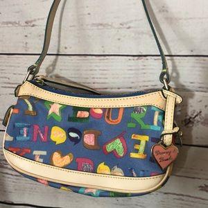 Rare Dooney & Bourke Blue Doodle Bag